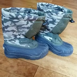Columbia Youth Camo Snow Boots
